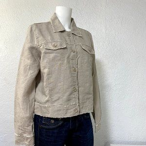 ⚡️ Tommy Bahama Linen Button Front Jacket Size Large